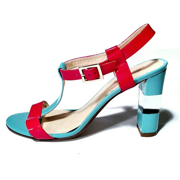 e883cb759fc kate spade Shoes - Kate Spade T-Strap Patent Leather Block Heels